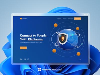 Landing Page UI ui design ui
