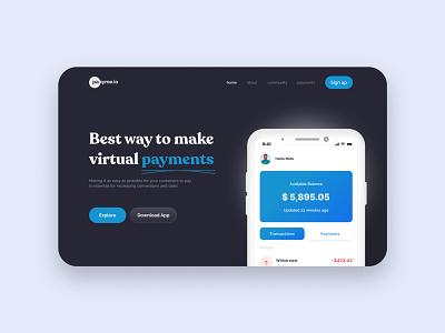 Payments logo motion graphics graphic design 3d animation ui