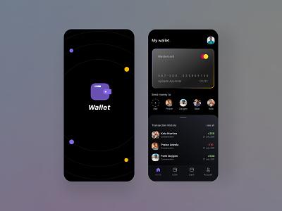 Wallet app illustration design mobile design mobile ui design mobile app design mobile ui ui design uiux logo motion graphics graphic design 3d animation ui