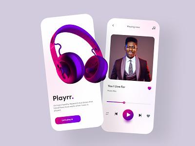 Music player app illustration design mobile design branding mobile ui design mobile app design mobile ui ui design uiux logo motion graphics graphic design 3d animation ui