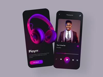 Music player illustration design mobile design mobile ui design mobile app design mobile ui ui design uiux logo motion graphics graphic design 3d animation ui