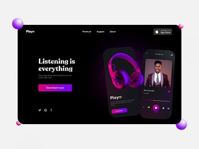 Playrr music app design illustration mobile design branding logo motion graphics graphic design 3d animation ui mobile ui design mobile app design mobile ui ui design uiux