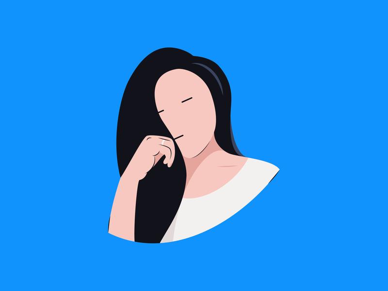 Blues design.blues sad face design vector illustration