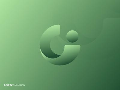 Cripty Innovation - Logo Mark logo design logo gradient gradient logo design.blues c logo illustration branding design c branding and identity