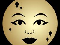 Full Moon Enamel Pin Design by Lizzie M. Press