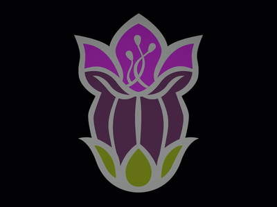 Belladonna Bud Enamel Pin Design