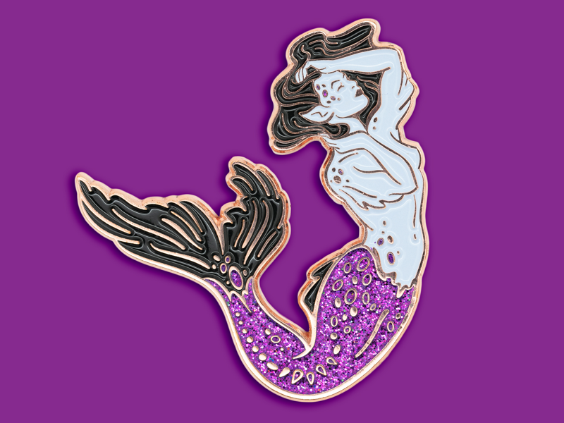 Midnight Siren Enamel Pin wicca witch mermaid siren sea ocean pin enamel pin