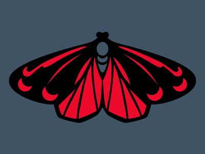 Cinnabar Moth Enamel Pin Concept