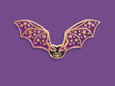 Astral Bat Enamel Pin