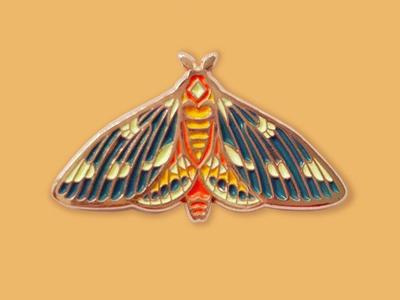 Rune Moth Enamel Pin
