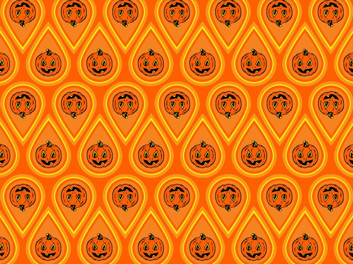 Twin Flame Jack Pattern WIP #1 enamel pin magic love flame fire autumn illustration pattern halloween pumpkin jackolantern