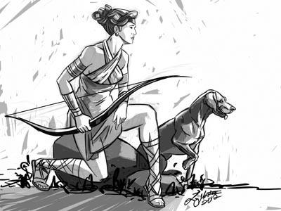 Artemis (Diana) by Liz Masters on Dribbble