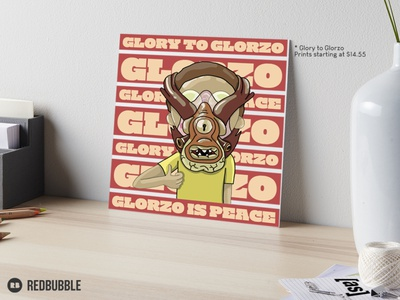 Glory to Glorzo stationary design home decor mockup psd adult cartoon fanart artwork poster mockup print design prints cartoonnetwork adult swim