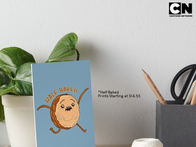 Half Baked Promo Poster | Redbubble and CartoonNetwork Exclusive photoshop psd advert advertising cartoon illustration freelance design freelance redbubble cartoon adventuretime cartoonnetwork