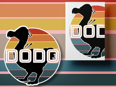 Ark Survival Dodo Sticker and Stationary Duo rainbow retro vintage video game ark psd illustration blue stationary minimal flat mockup psd mockup design
