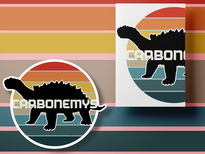 Ark Survival Carbonemys Stationary Duo vintage retro rainbow psd stickers silhouette minimal outdoors survival gaming videogame ark