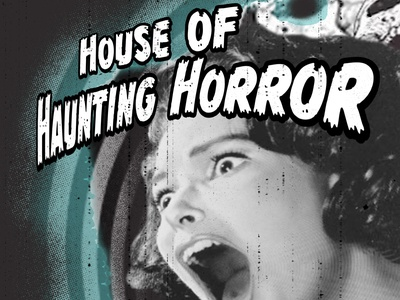 House of Haunting Horror mockup psd halloween flyer halloween design retro logo spoopy hallows eve black and white poster concept horror rob zombie mockup texture grunge movie poster retro spooky halloween rebound