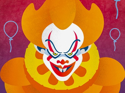 «It» Movie rule89 movie illustration vectorart fanart clown it stephen king