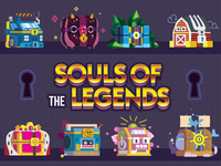 «Souls of the Legends» — Magic Chests Design project