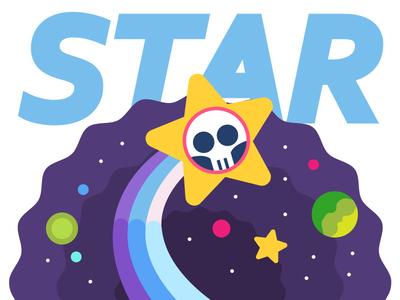 Star flatimage flat image colorful art vectorart cartoon vector art vector cute illustrator illustration flat