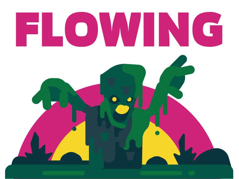Flowing colorfulart character design flatimage game art flat image vector colorful art vectorart cute illustrator cartoon illustration flat