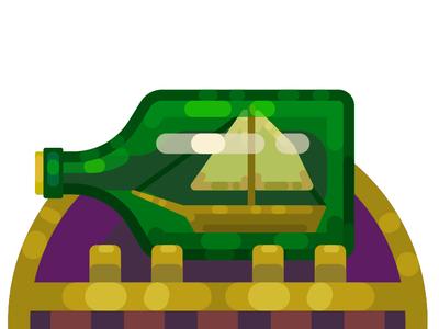 Bottle Ship flatimage vector art vector flat image colorful art vectorart cute illustrator cartoon illustration flat