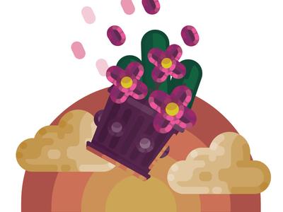 Flower pot flatimage vector art vector vectorart illustrator cartoon illustration flat