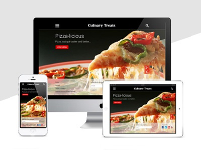 Culinary Treats - Responsive Website Design culinary treats responsive web website design ui ux food restaurant