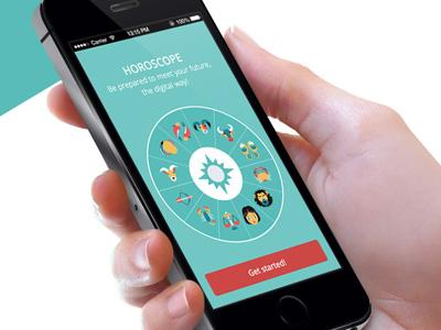 Horoscope App horoscope app application iphone mobile icon design phone