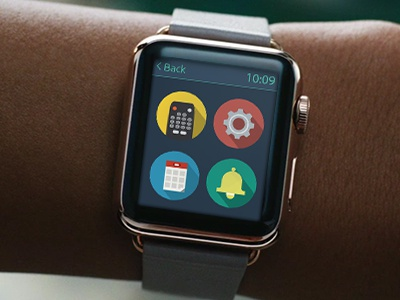 Remote Control App for Apple Watch iwatch icons flat design watch app smartwatch