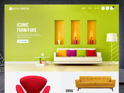 Furniture Website Design india colours flat furniture ux ui design web website