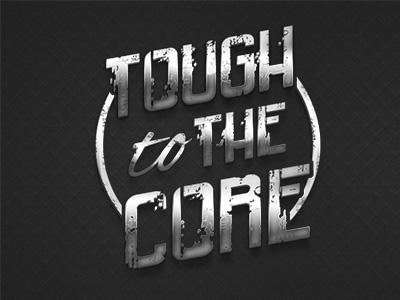 Tough To The Core - Logo Design silver grey metal tough design logo