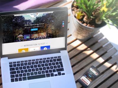 Times LitFest - Website Design responsive template times litfest event ux ui flat design website