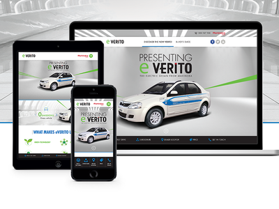 Mahindra eVerito Website Design mobile ux ui flat design form webpages design inspiration responsive website blue web design website car