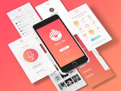 Music Box - App Design web design graphic inspiration behance interface music ux ui application design app mobile