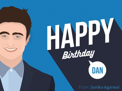 Birthday Card for Daniel Radcliffe