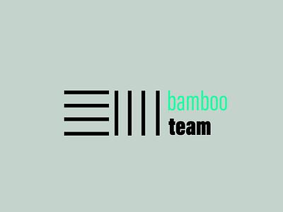 bamboo team project minimal clean illustrator branding logo design