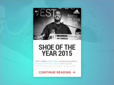 Shoe Of The Year News Card