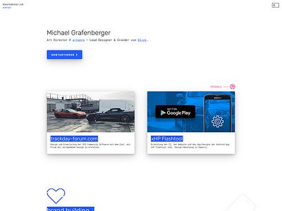 🔥 mgrafenberger.com branding mobile landing page freelancer designer portfolio personal cards google nifty minimal material