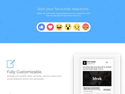 Add Your Favourite Reactions 😍😢😱 whatsapp snapchat pink tool creator designer austria flat material blue facebook emoji