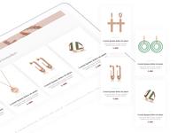 eCommerce Jewelry 💎 Design ecommerce app usability testing jewelry shop card branding minimal flat material ui design ux design online shop ecommerce shop ecommerce austria