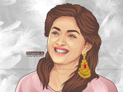 Keerthy suresh Birthday 2020 illustration vectorart fanart keerthysuresh happybirthday