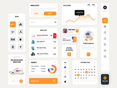 E-commerce |  UI Component calendar clean ux website dashboard activity menu shop product cart component ui app e-commerce