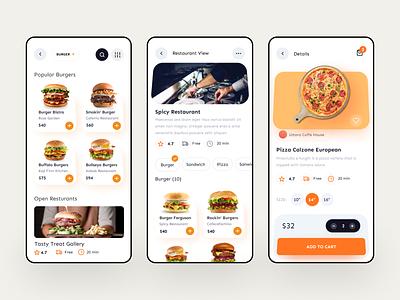 Food Delivery Mobile App ( Behance Case Study ) product details restaurant e-commere clean ux ui dotshape service ios mobile app food delivery