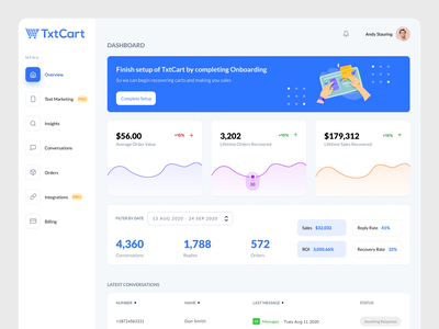 Overview Page Re-Design ux ui webapp dashboard hrm crm overview