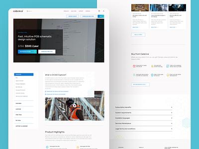 Home Page - Responsive clean website ux ui schematic design pcb bits architecture building software