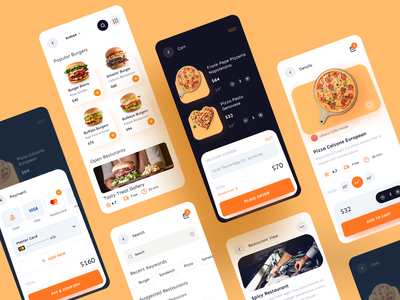 Food Delivery Mobile App restaurant clean ux ui mobile app food delivery