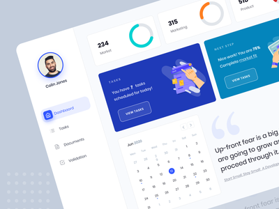 Dashboard design system documents calendar overview interface ux ui web dashboard