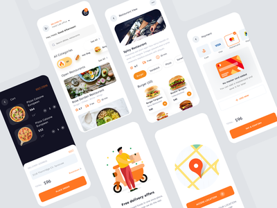 D-Food Delivery Mobile App UI KIT for Sale ( Customer and Chef ) customer chef ux design mobile app ui design delivery app food delivery mobile app ui kit ui8 figma uikit