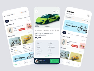 Buy & Sell Service Mobile App halallab product service car mobile app ux ui ecommerce app shop sell buy